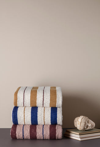 Pinstripe Blanket in Mustard design by Ferm Living
