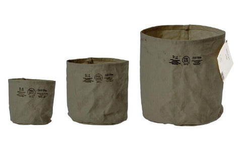 Canvas Pot Cover - Small - Green