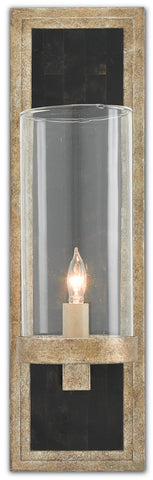 Charade Wall Sconce in Antique Silver Leaf design by Currey & Company