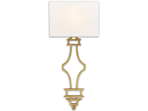 Eternity Wall Sconce in Antique Gold Leaf design by Currey & Company