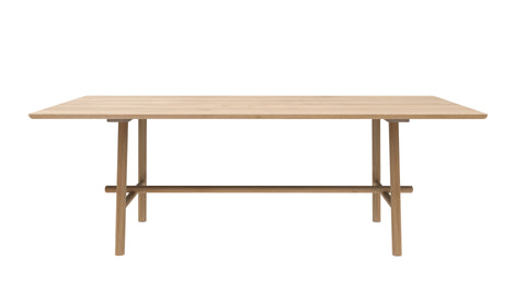 Oak Profile Varnished Dining Table in Various Sizes