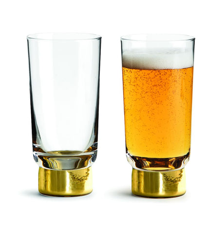 Set of 2 Gold Club Glasses in Various Sizes by Sagaform