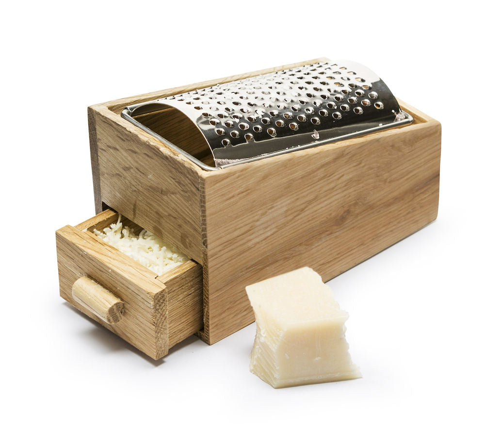 Oak and Stainless Steel Cheese Grater design by Sagaform