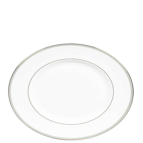 Grosgrain Medium Oval Platter by Vera Wang