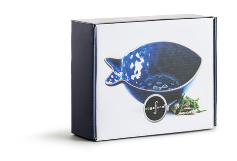 Small Fish Serving Bowl in Blue design by Sagaform
