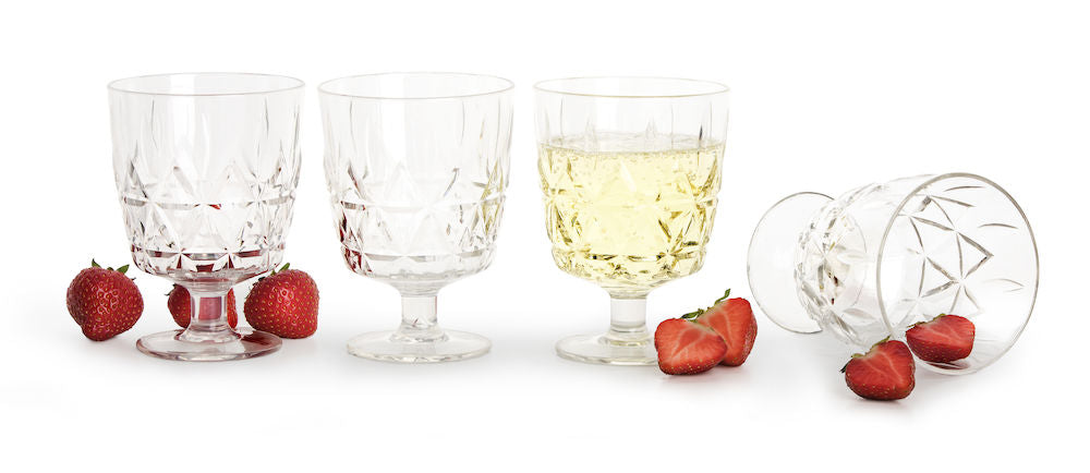 Set of 4 Picnic Glasses in Various Sizes by Sagaform