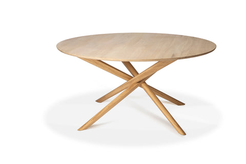 Round Oak Mikado Dining Table