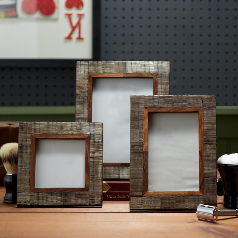 Chiseled Horn Photo Frame