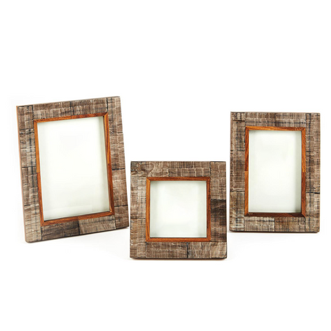 Chiseled Horn Photo Frame by Twos Company