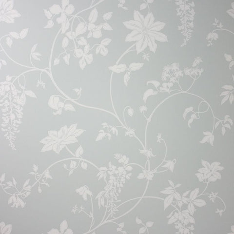 Sample Wisteria Wallpaper in grey color by Lorca