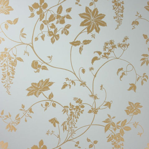 Sample Wisteria Wallpaper in gray and brown color by Lorca