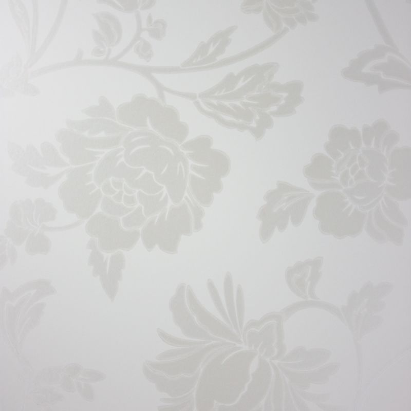 Florissant Wallpaper in gray color by Nina Campbell
