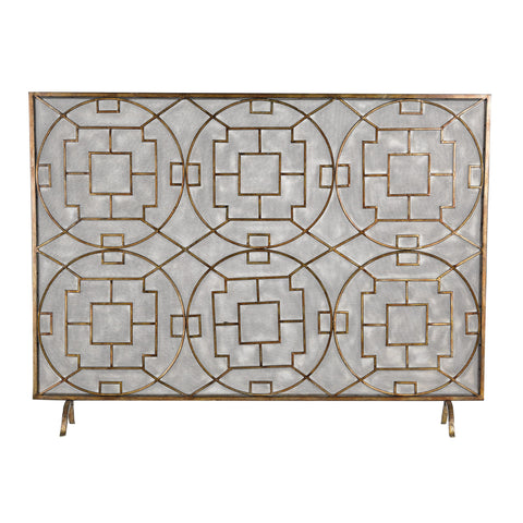 Geometric Fire Screen design by Lazy Susan