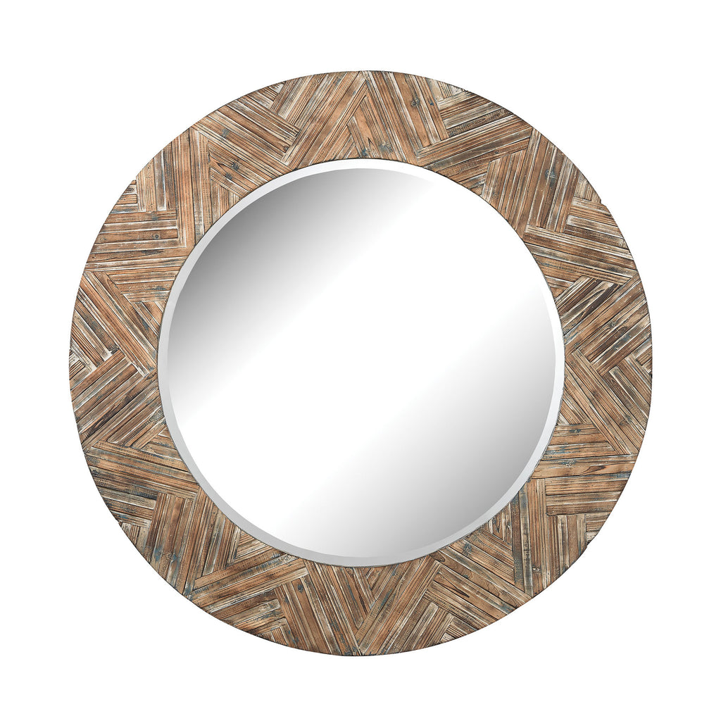 Large Round Wicker Mirror design by Lazy Susan