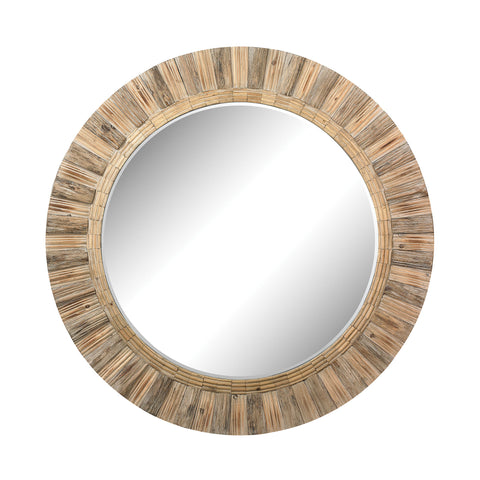 Oversized Round Wicker Mirror design by Lazy Susan
