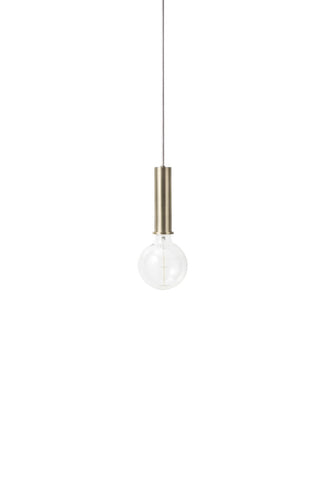 Socket Pendant High in Brass design by Ferm Living
