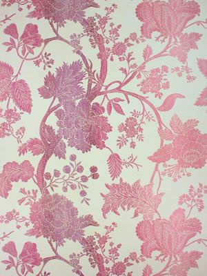 Amazonas Wallpaper in pink from the Birdcage Walk Collection by Nina Campbell
