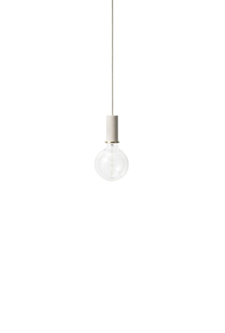Socket Pendant Low in Light Grey design by Ferm Living