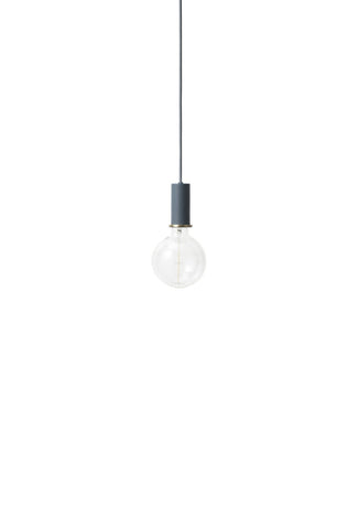 Socket Pendant Low in Dark Blue by Ferm Living