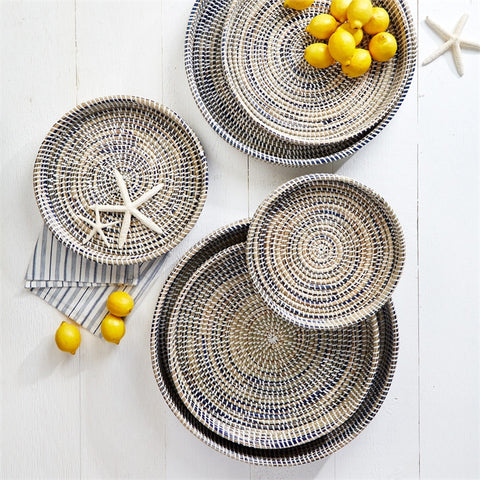 Set of 6 Nested Woven Trays design by Twos Company
