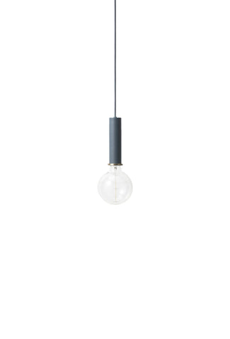 Socket Pendant High in Dark Blue by Ferm Living