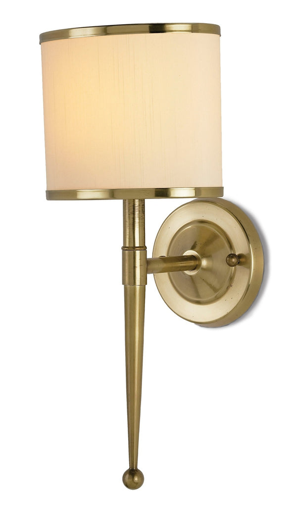 Primo Wall Sconce w/ Cream Shade design by Currey & Company