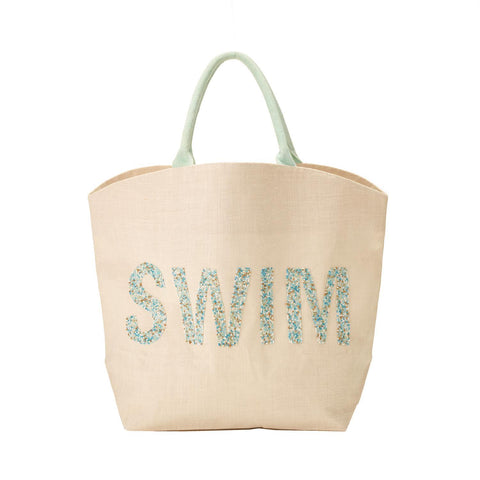 Beach Please Beaded Word Bag