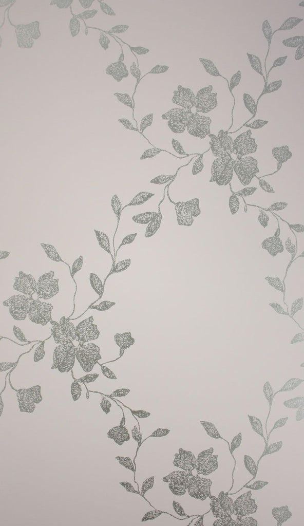 Alyssa Wallpaper in grey from the Giverny Collection by Nina Campbell