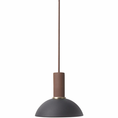 Socket Pendant Low in Red Brown design by Ferm Living