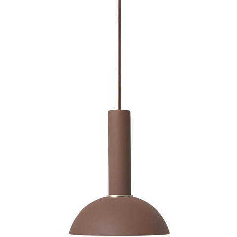 Socket Pendant High in Red Brown by Ferm Living