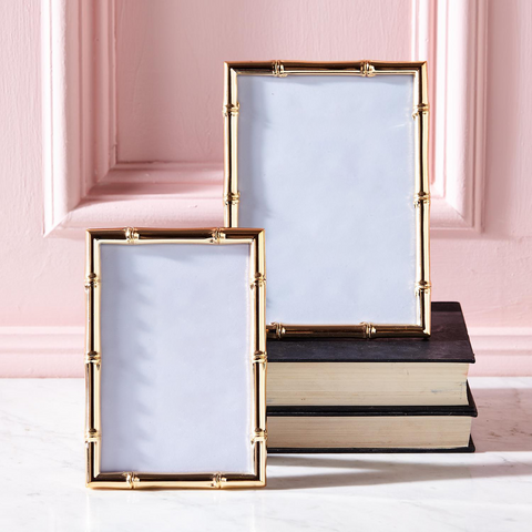 Set of 2 Gold Gallery Rose Gold Photo Frames