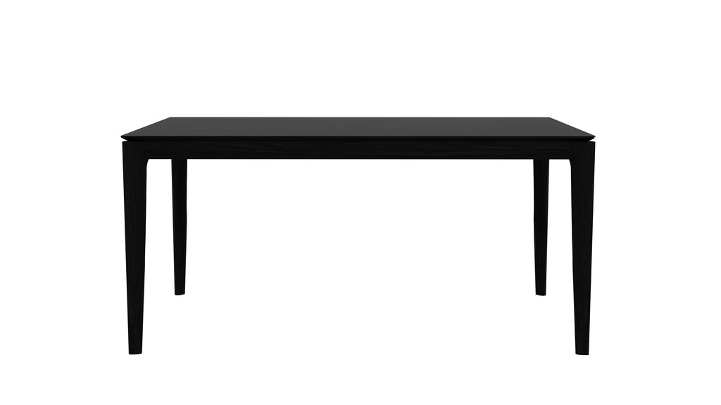 Oak Bok Dining Table in Varnished Black in Various Sizes