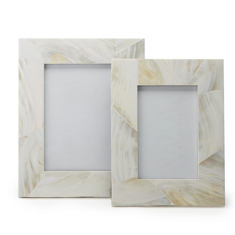 Set of 2 Mother of Pearl Picture Frames in Assorted Sizes design by Tozai