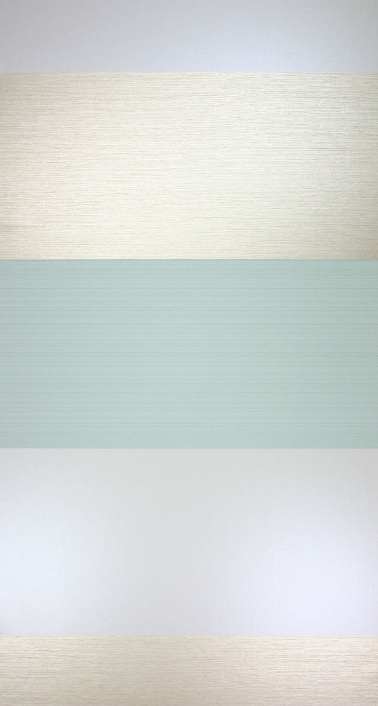 Sample Cremona Wallpaper in silver and turquoise from the Lombardia Collection by Osborne & Little