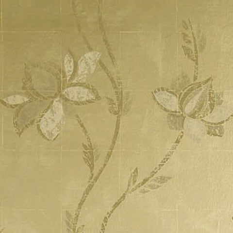 Ponchielli Wallpaper in gold from the Lombardia Collection by Nina Campbell