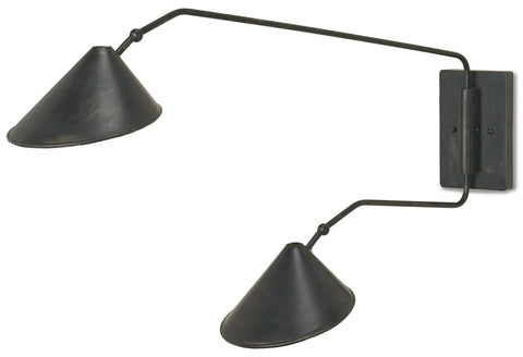 Serpa Double Wall Sconce in Various Sizes Flatshot Image