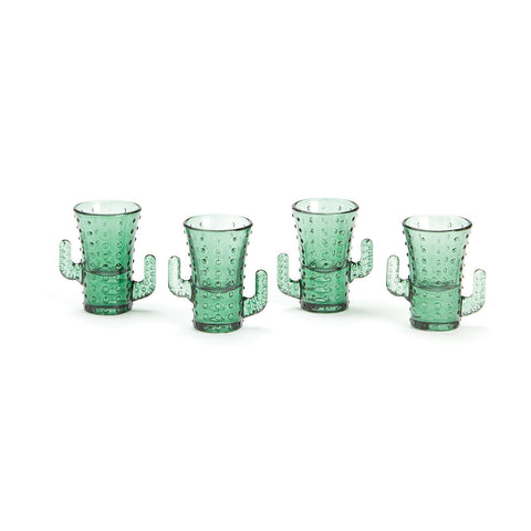 Set of 4 Cactus Shot Glasses