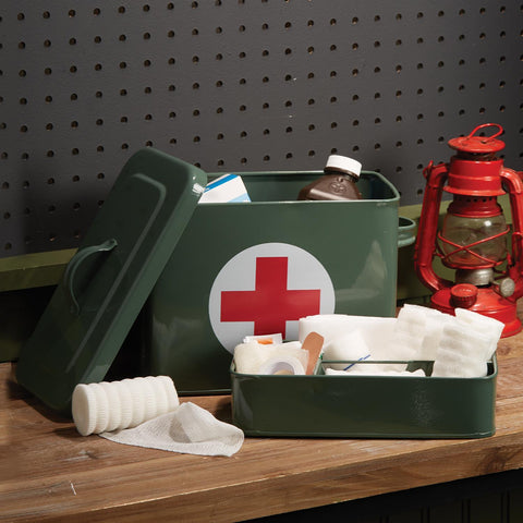 First Aid Storage Box with 3 Section Organizer Tray Insert