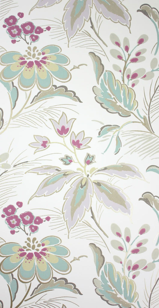 Sample Montacute Wallpaper in multi-color by Nina Campbell