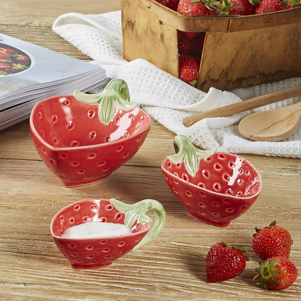 Berry Sweet Strawberry Bowls, Set of 3