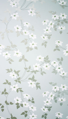 Malleny Wallpaper in silver from the Montacute Collection by Nina Campbell