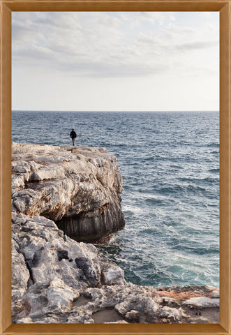 Edge of the World Framed Photo by Leftbank Art