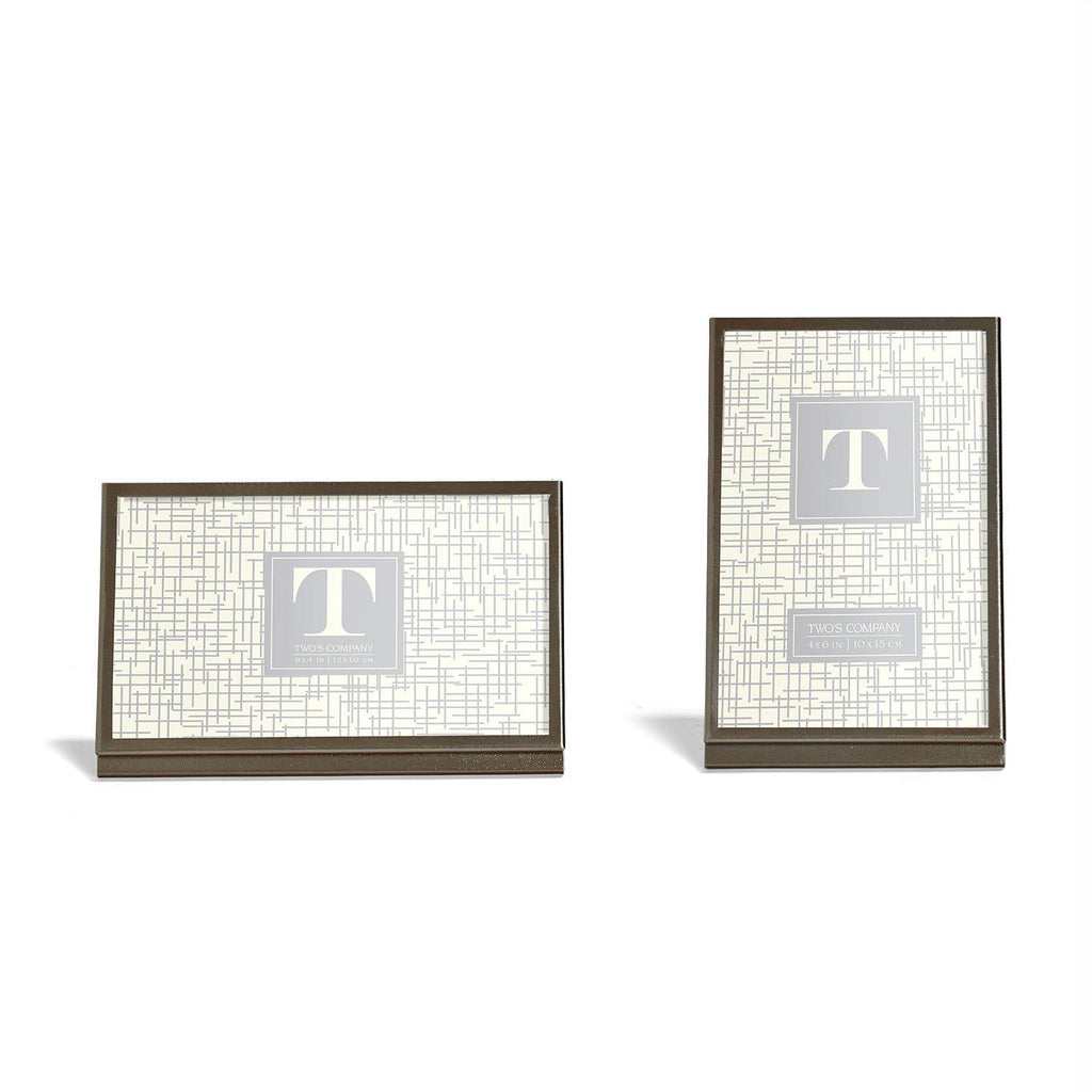 Modern Metals Gunmetal Silver Photo Frames, Assorted Styles