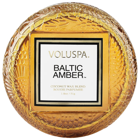 Macaron Candle in Baltic Amber design by Voluspa