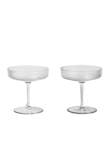 Ripple Champagne Saucer - Set Of 2 by Ferm Living