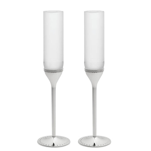 Grosgrain Toasting Flute, Pair by Vera Wang