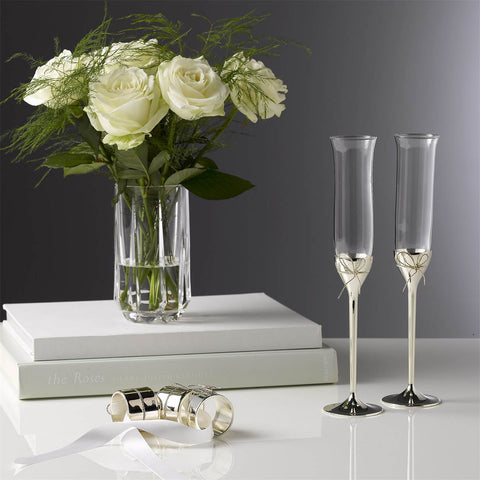 Love Knots Toasting Flutes, Pair by Vera Wang