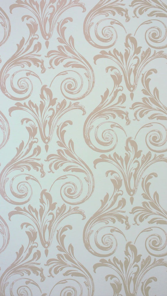 Sample Convivio Wallpaper in beige from the Paradiso Collection by Nina Campbell