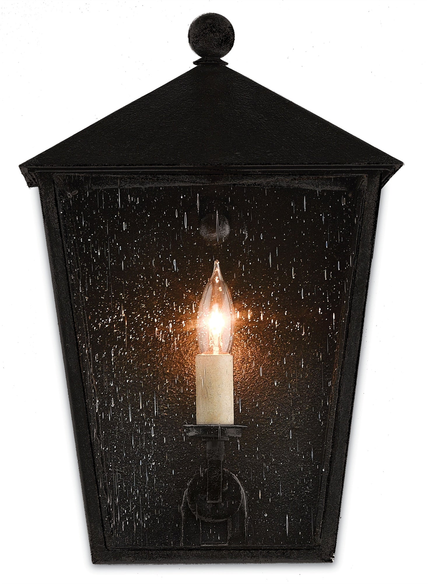 Bening Outdoor Wall Sconce in Various Sizes design by Currey & Company