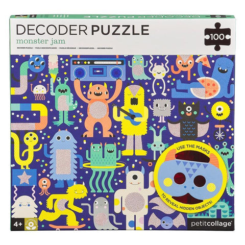 Monster Jam Decoder Puzzle by Petit Collage